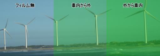 カラーフィルム グリーン サンプル62%