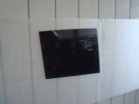 「カーフィルム施工-リアドアガラス(セダン)03」 型取り終了