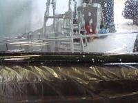 「カーフィルム施工-リアドアガラス(セダン)07」 フィルム下部の対応