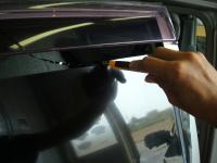 「カーフィルム施工-リアドアガラス(セダン)02」 フィルムの型取り